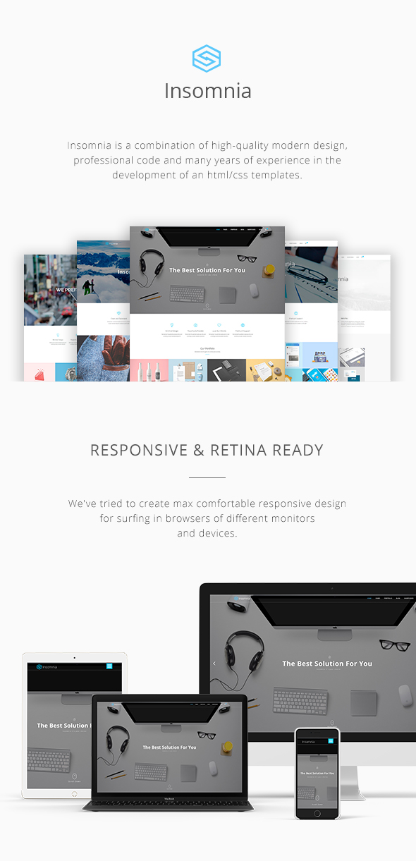 Insomnia - Beautiful and Modern HTML 5 / CSS 3 Corporate Template - 1