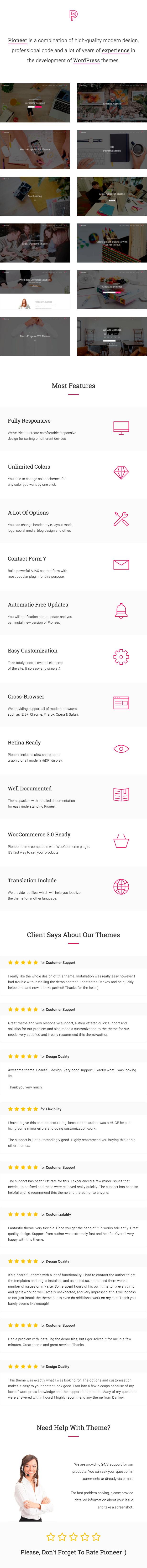 Pioneer - Multi-Concept Corporate WordPress Theme - 1